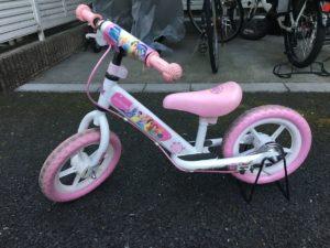 3歳の誕生日に自転車